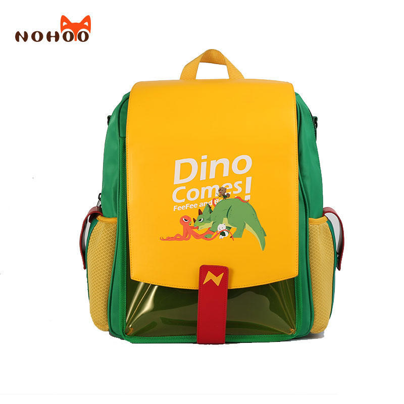 Nohoo new design school bag PU PVC Polyester 3 in 1 bags student primary school backpack