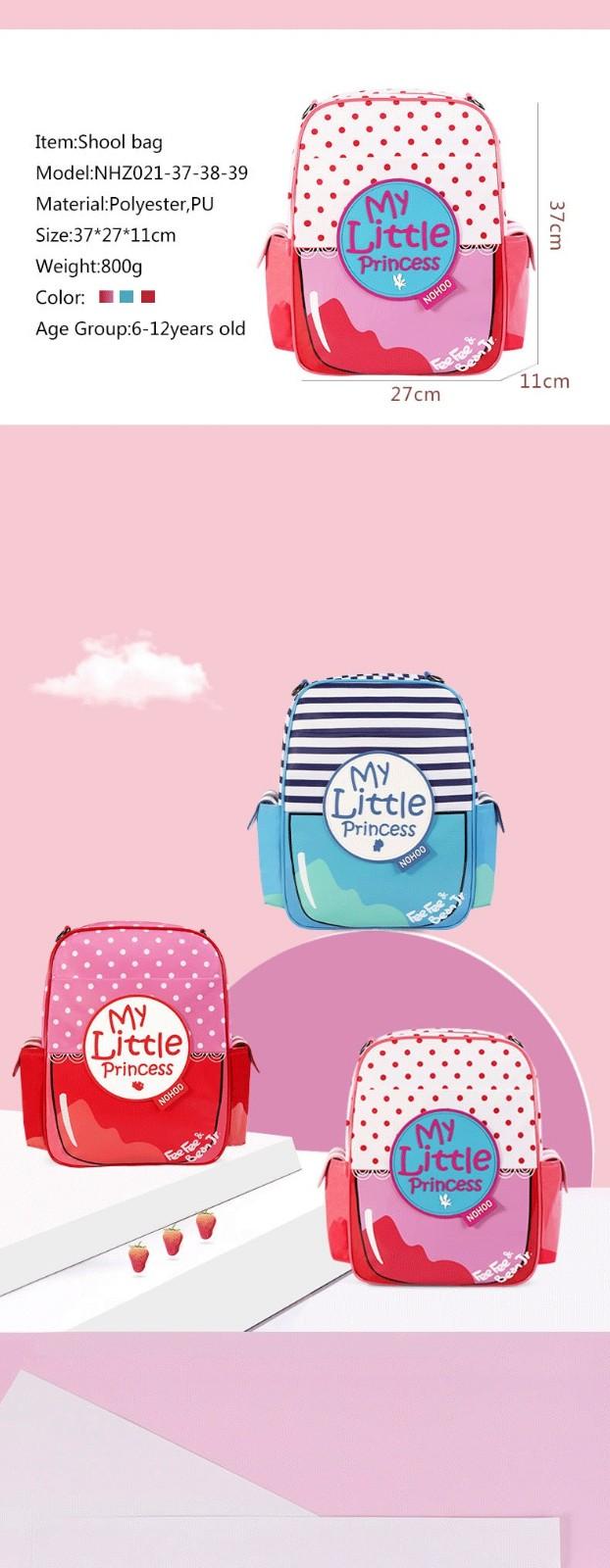 product-NOHOO-Nohoo 2019 new arrival waterproof lightweight PU 3D cartoon children school bag for gi