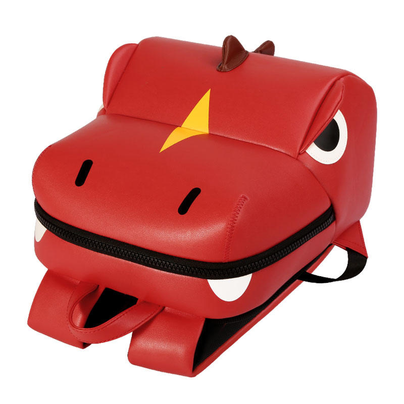 NHB314 Nohoo Wholesale Custom  3D Cartoon PU microfiber kids bags for 2-4 years old