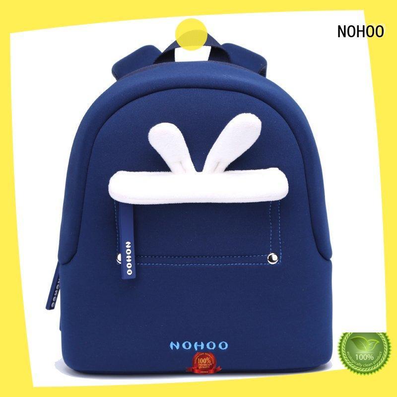 blue sling back bag camping for child NOHOO