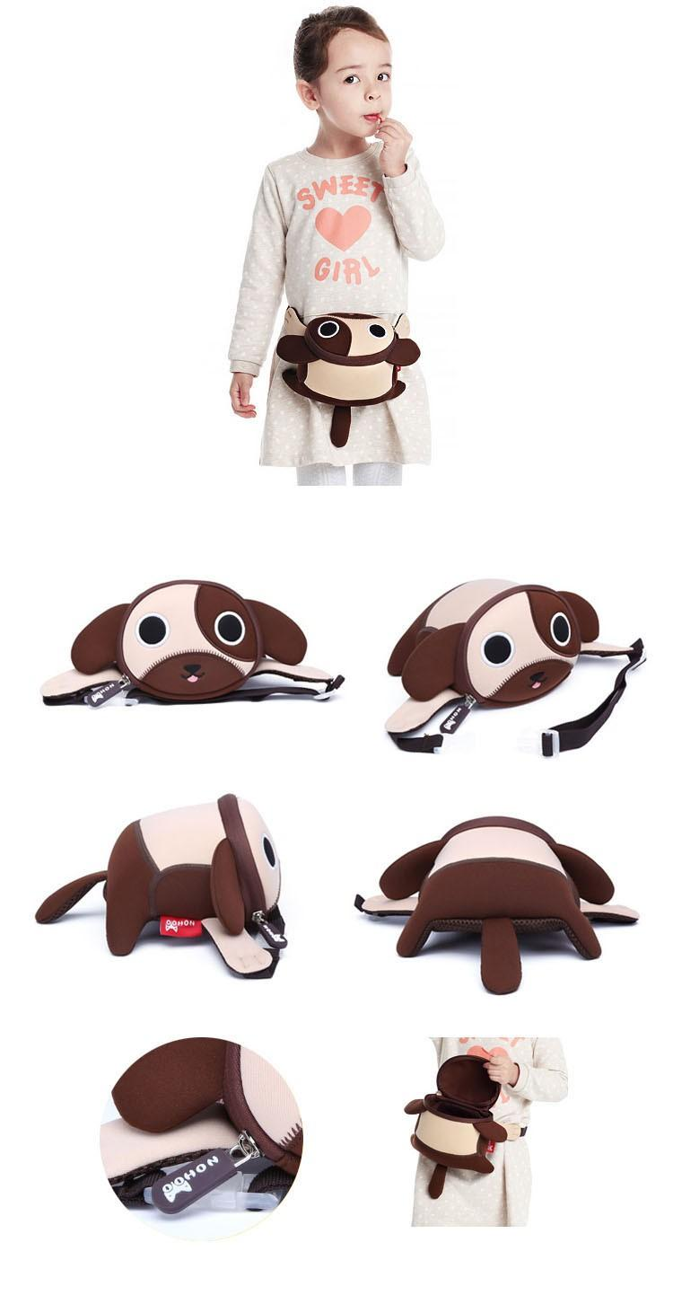 Nohoo Children Products-Find Best Waist Bag Nhy004 Mini Embroidery Dog Printing Crossbody Chest