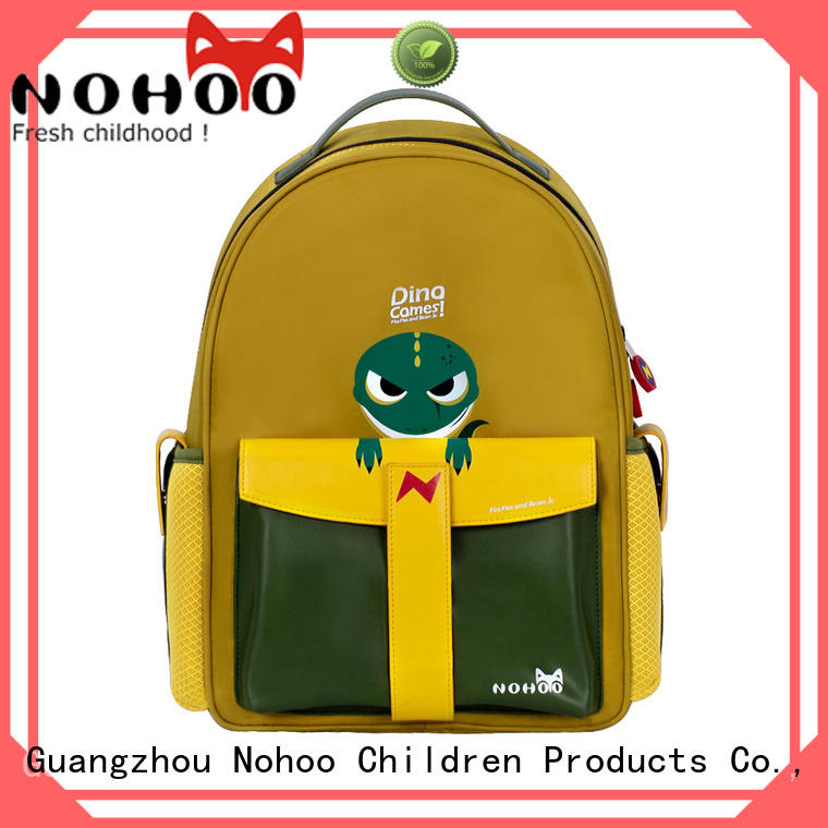NOHOO 3d Polyester children school bag wholesale for boys