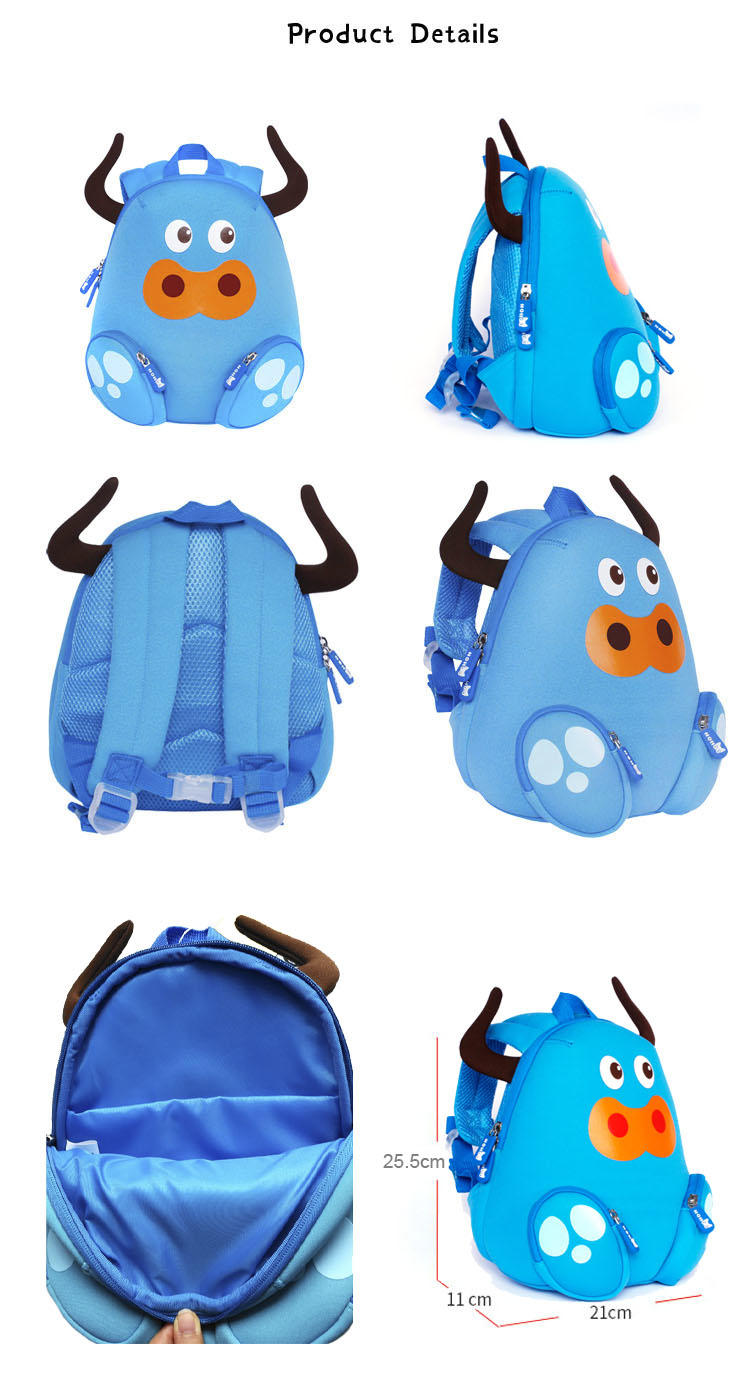 Nohoo Children Products-Manufacturer Of Custom Backpack Manufacturers Nh045 Cattle Animal Children