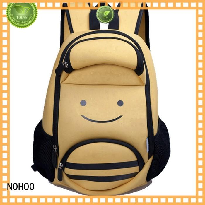 NOHOO multipocket toddler boy backpack personalized factory price for primary students